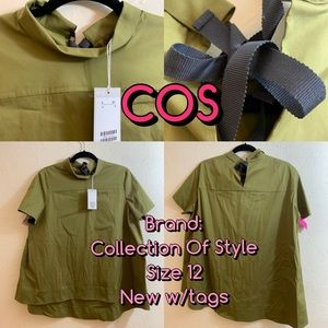 COS Collection Of Style Army green A line mock top